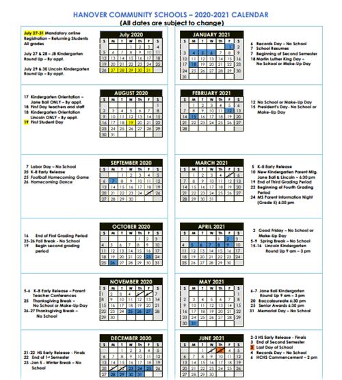 New Hanover County School Calendar 2021-2022 Photos