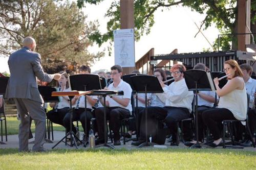 Band playing in park
