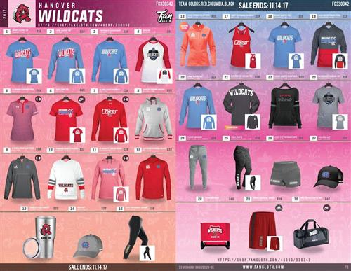 picture of a spirit wear catalog