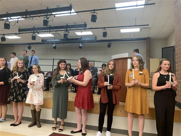'Soak up every moment'-- 41 students inducted into National Junior Honor Society