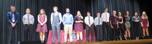 Picture of Academic All Conference Athletes with names below