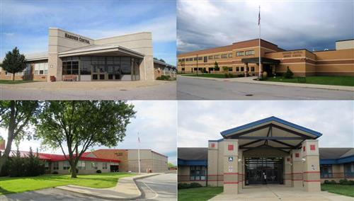 collage of all 4 schools