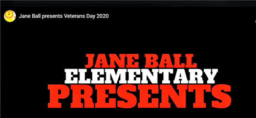 picture of the words Jane Ball Elementary Presents