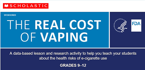 Banner art for vaping announcement