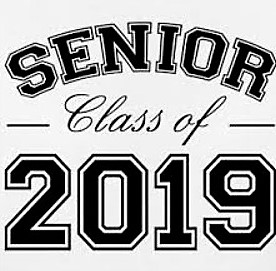 senior class of 2019 note