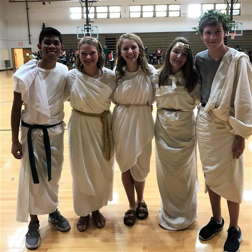 kids in togas